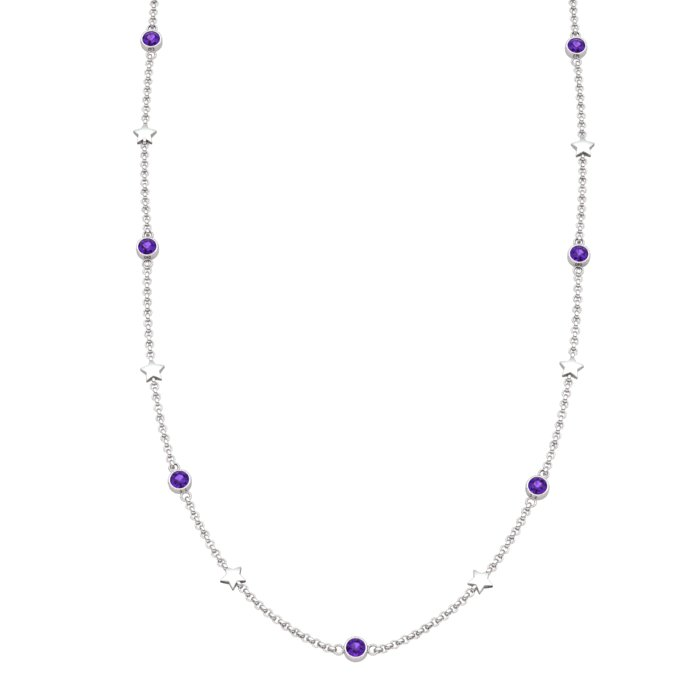 Matinee Star necklace Amethyst, Sterling Silver_image1)