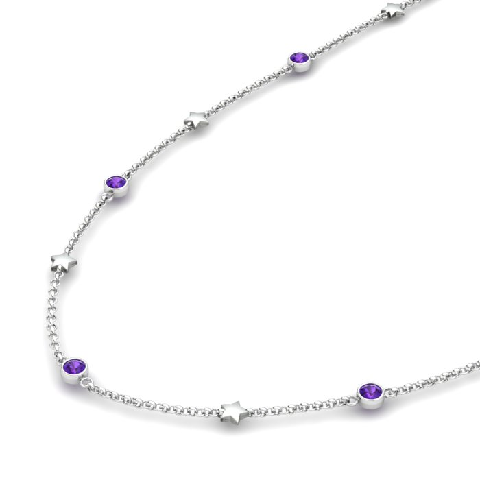 Matinee Star necklace Amethyst, Sterling Silver_image2)