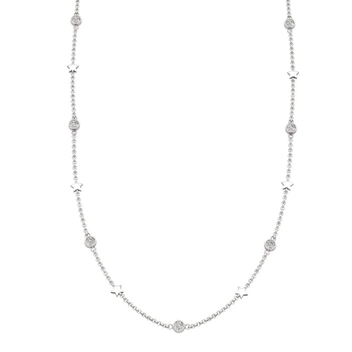 Matinee Star necklace White Zircon, Sterling Silver_image1)