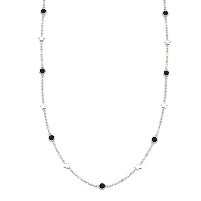 Matinee Star necklace Black Onyx , Sterling Silver_image1)