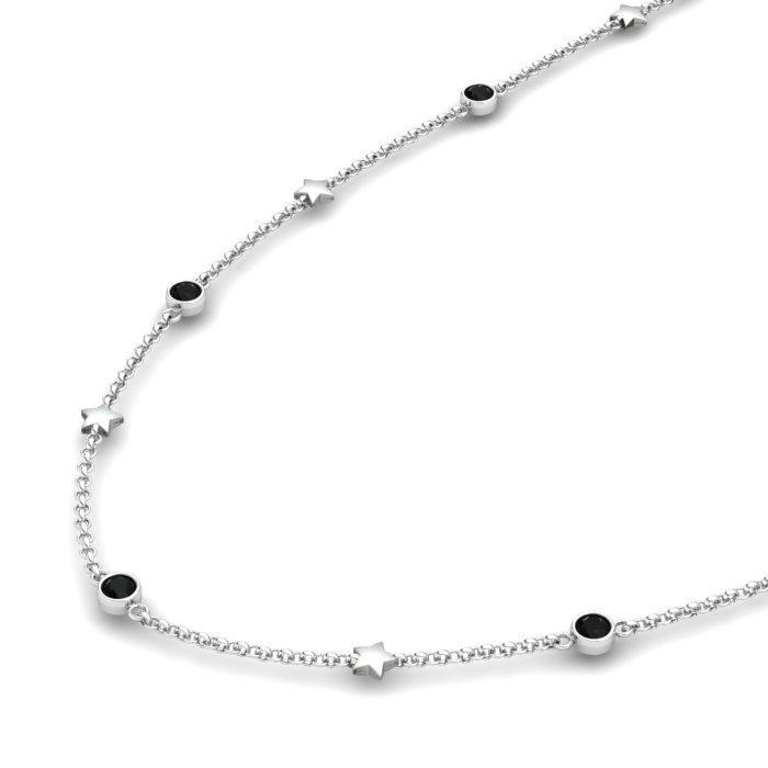 Matinee Star necklace Black Onyx , Sterling Silver_image2)