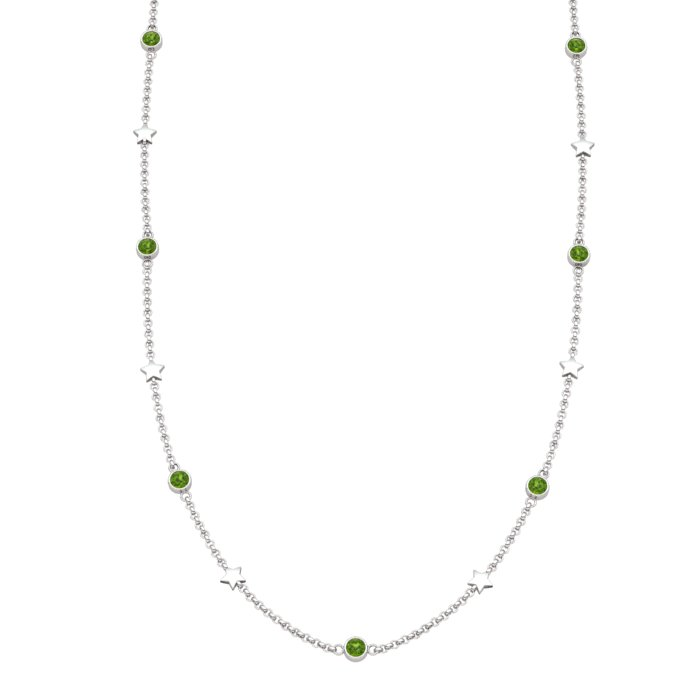 Matinee Star necklace Peridot, Sterling Silver_image1)