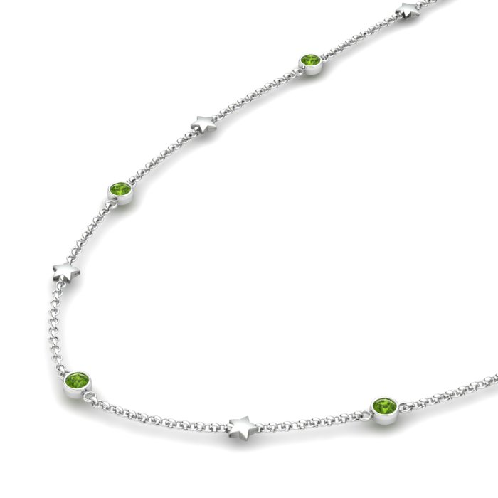 Matinee Star necklace Peridot, Sterling Silver_image2)