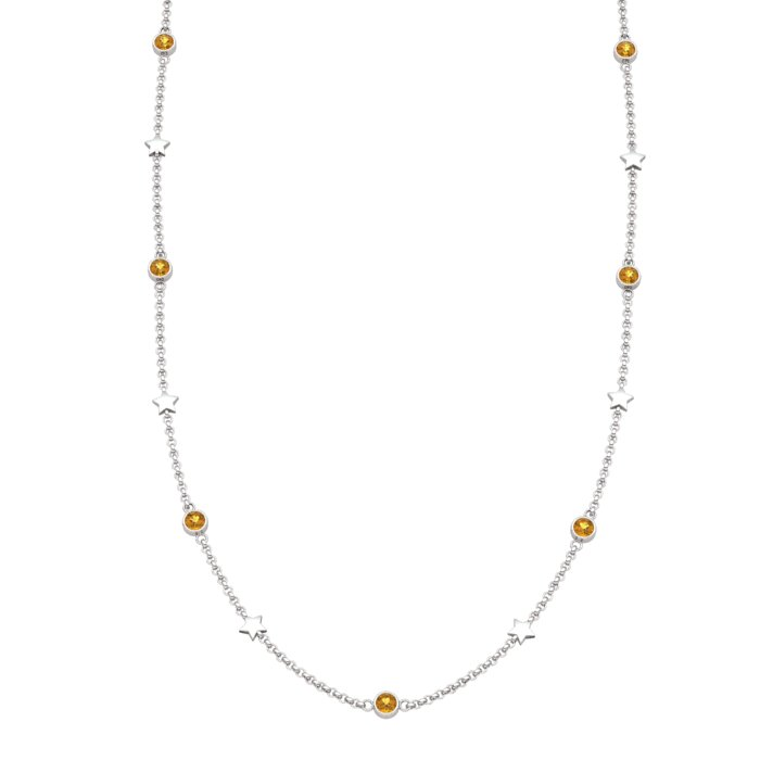 Matinee Star necklace Citrine, Sterling Silver_image1)