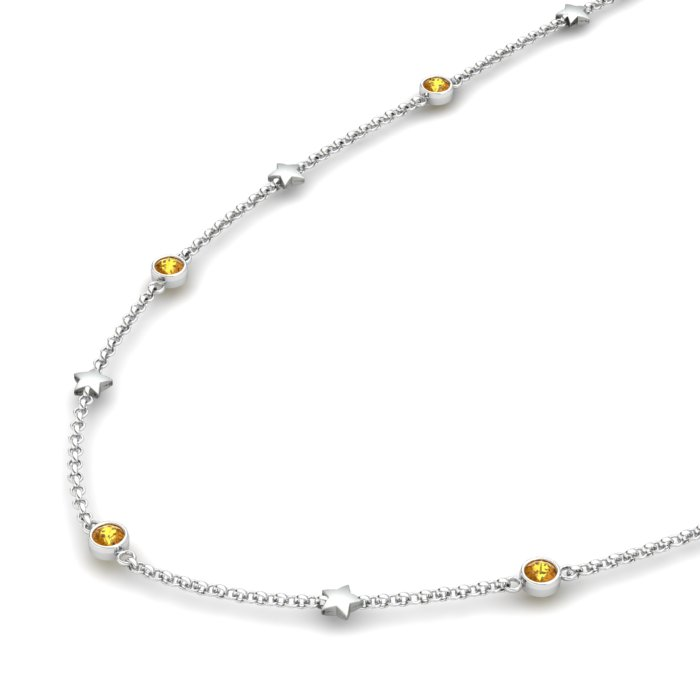 Matinee Star necklace Citrine, Sterling Silver_image2)