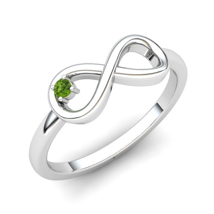 Infinity Peridot Ring, Sterling Silver_image1)