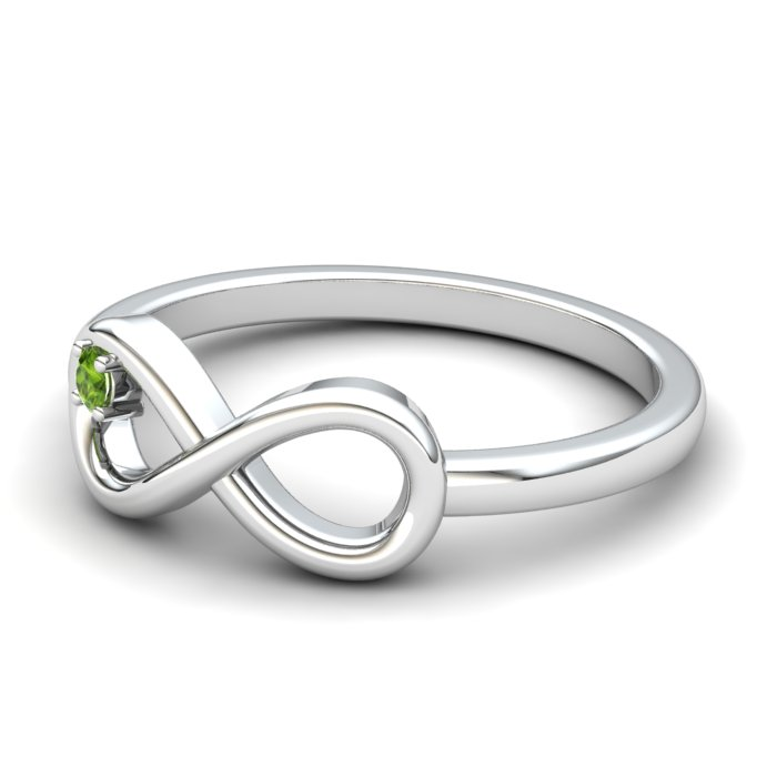 Infinity Peridot Ring, Sterling Silver_image2)