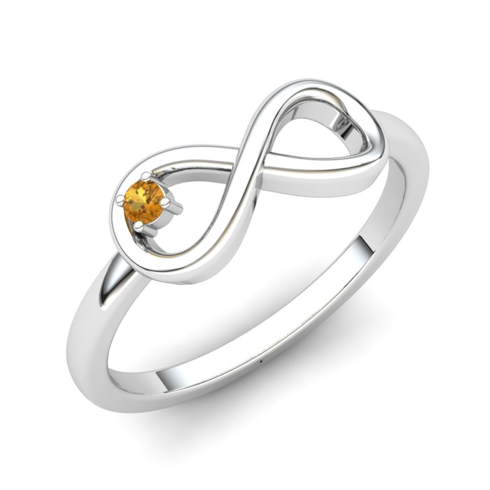 Infinity Citrine Ring, Sterling Silver_image1)