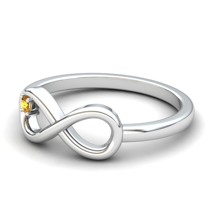 Infinity Citrine Ring, Sterling Silver_image2)