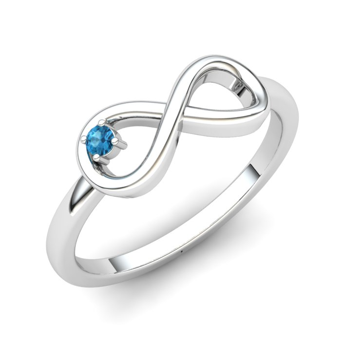 Infinity Blue Topaz Ring, Sterling Silver_image1)