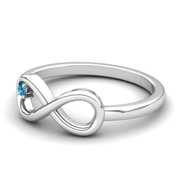 Infinity Blue Topaz Ring, Sterling Silver_image2)