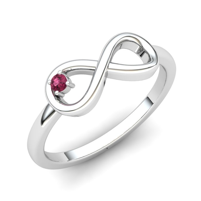 Infinity Garnet Ring, Sterling Silver_image1)