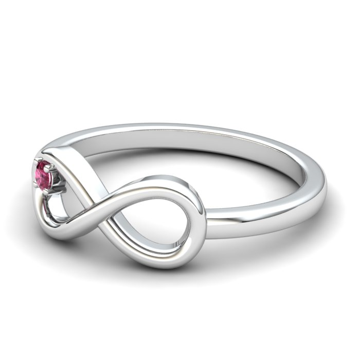 Infinity Garnet Ring, Sterling Silver_image2)