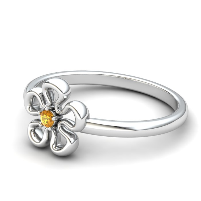 Flower Citrine Ring, Sterling Silver_image2)