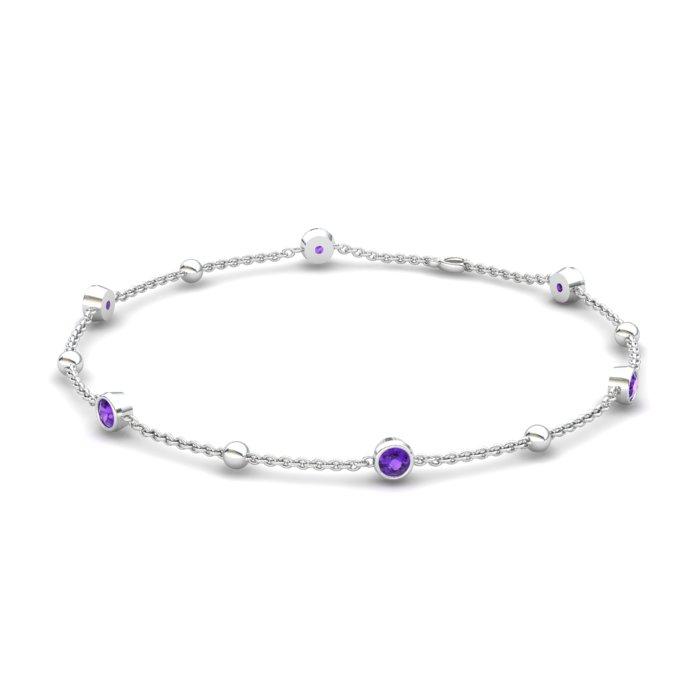 Bracelet Amethyst, Sterling Silver_image1)