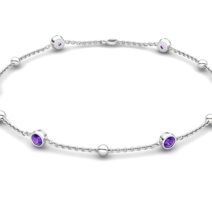 Bracelet Amethyst, Sterling Silver_image2)