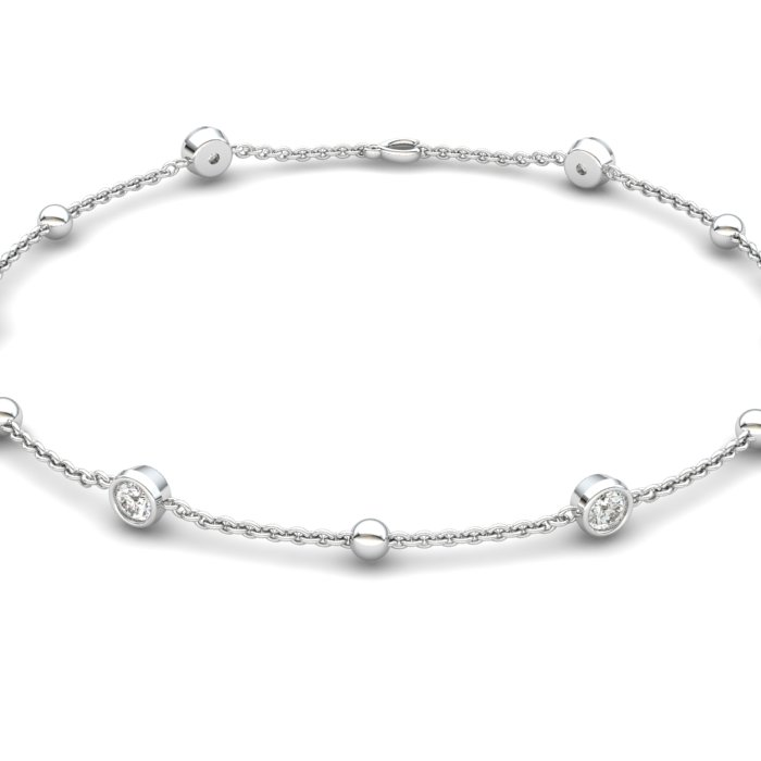 Bracelet White Zircon, Sterling Silver_image2)