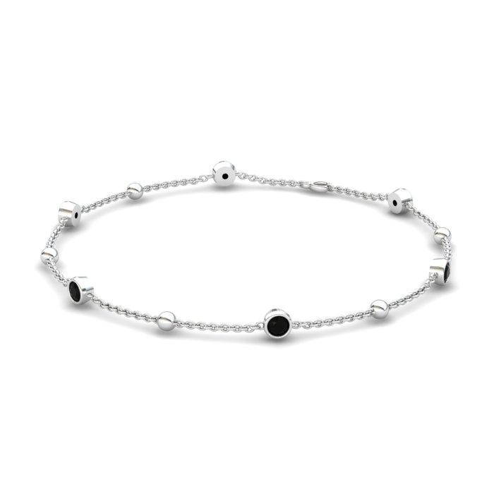 Bracelet Black Onyx , Sterling Silver_image1)