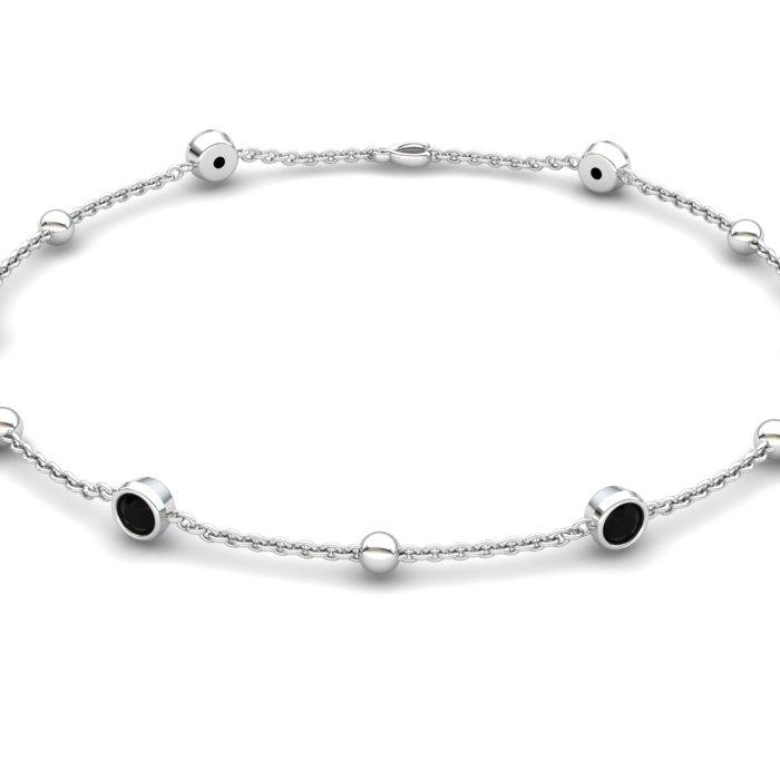 Bracelet Black Onyx , Sterling Silver_image2)