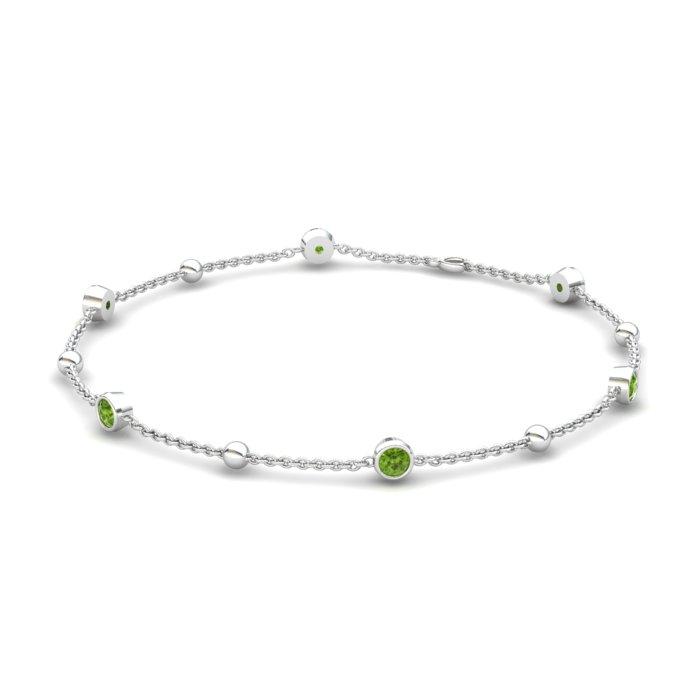Bracelet Peridot, Sterling Silver_image1)
