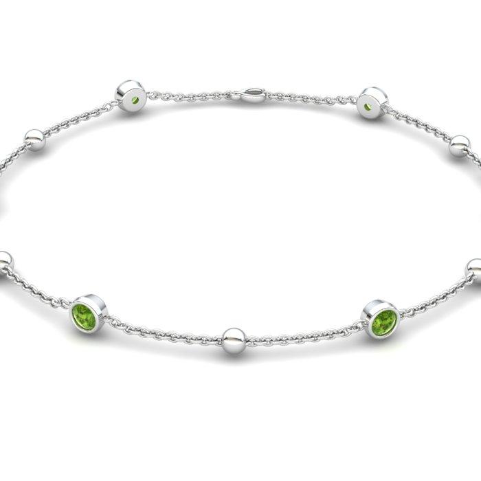 Bracelet Peridot, Sterling Silver_image2)