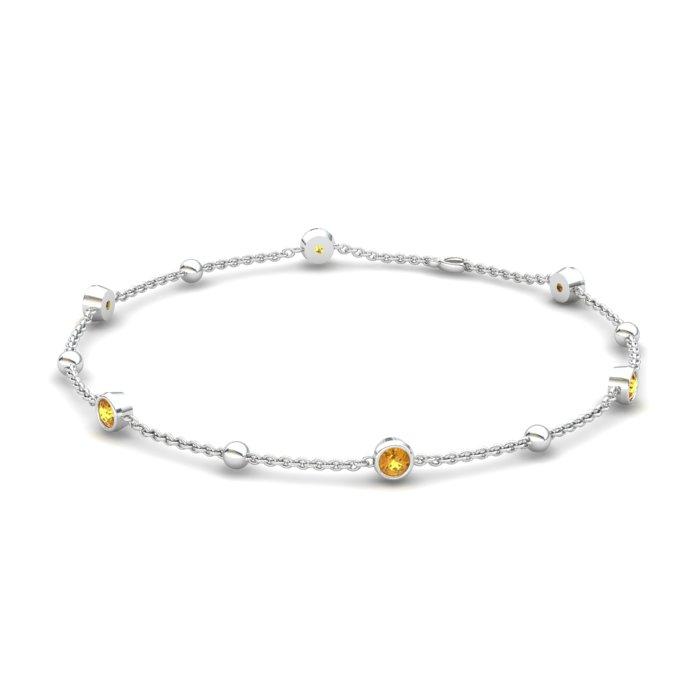 Bracelet Citrine, Sterling Silver_image1)