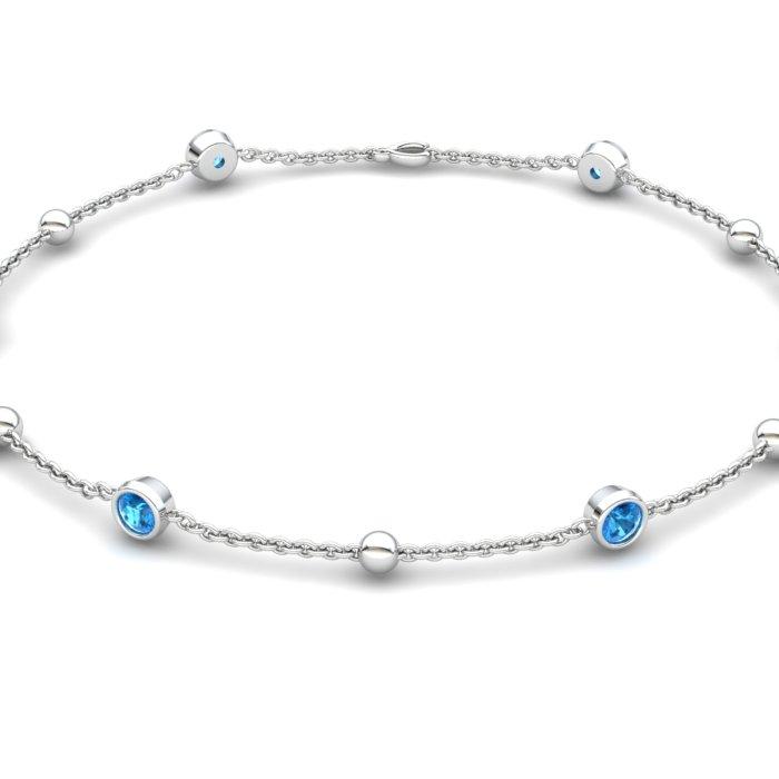 Bracelet Blue Topaz, Sterling Silver_image2)