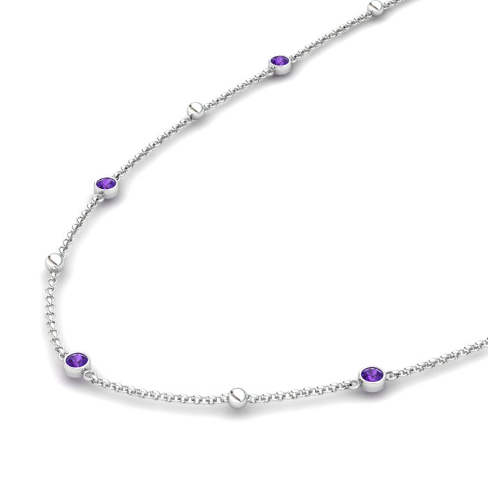 Matinee necklace Amethyst, Sterling Silver_image2)