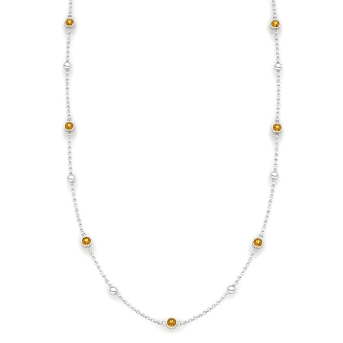 Matinee necklace Citrine, Sterling Silver_image1)