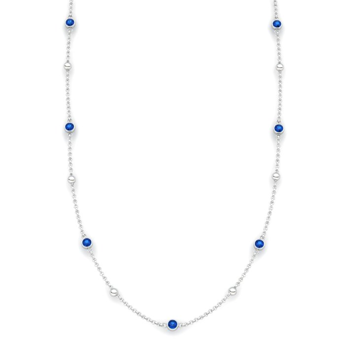 Matinee necklace Blue Topaz, Sterling Silver_image1)