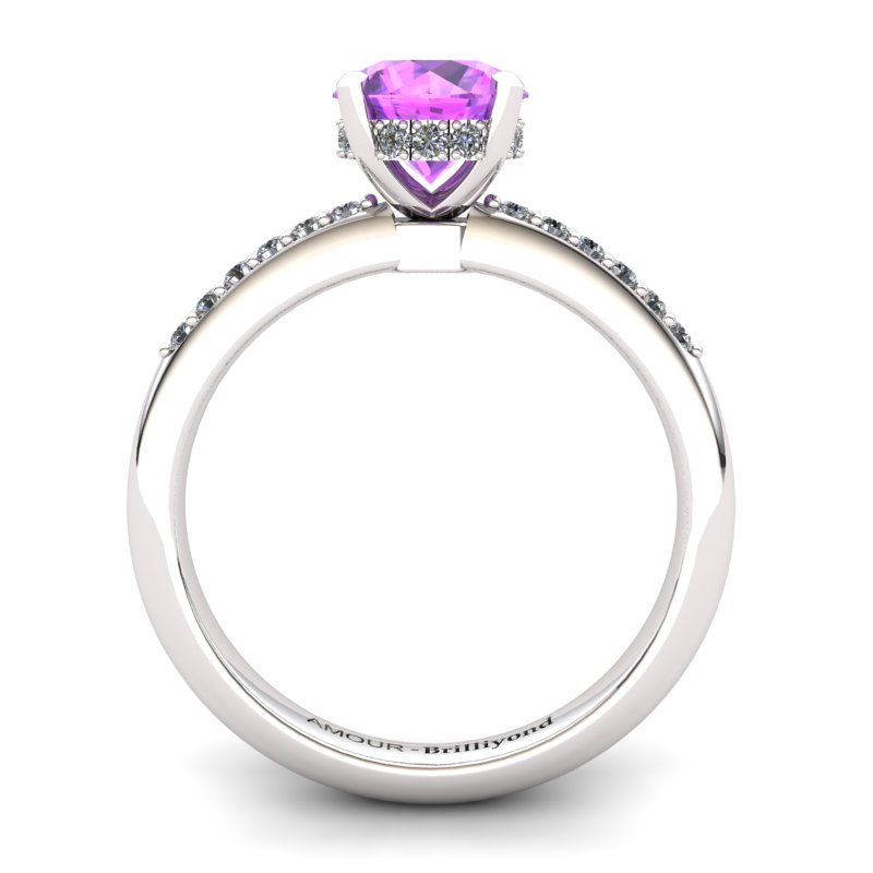 Crown Ring with Stone Band - Amethyst _image2)