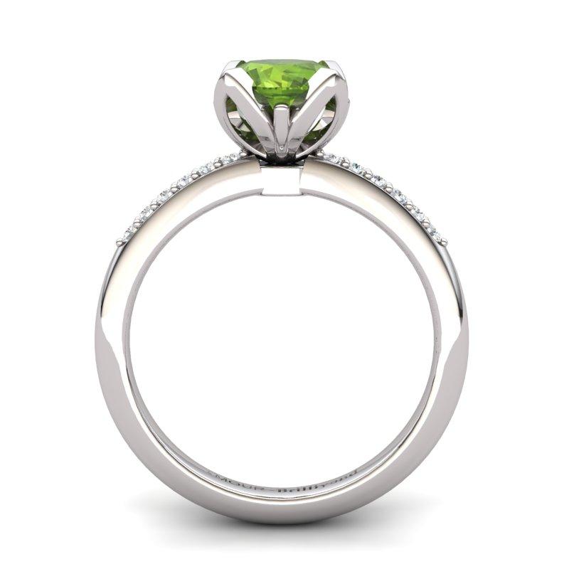 Peridot Lotus Ring with Stone Band _image2)