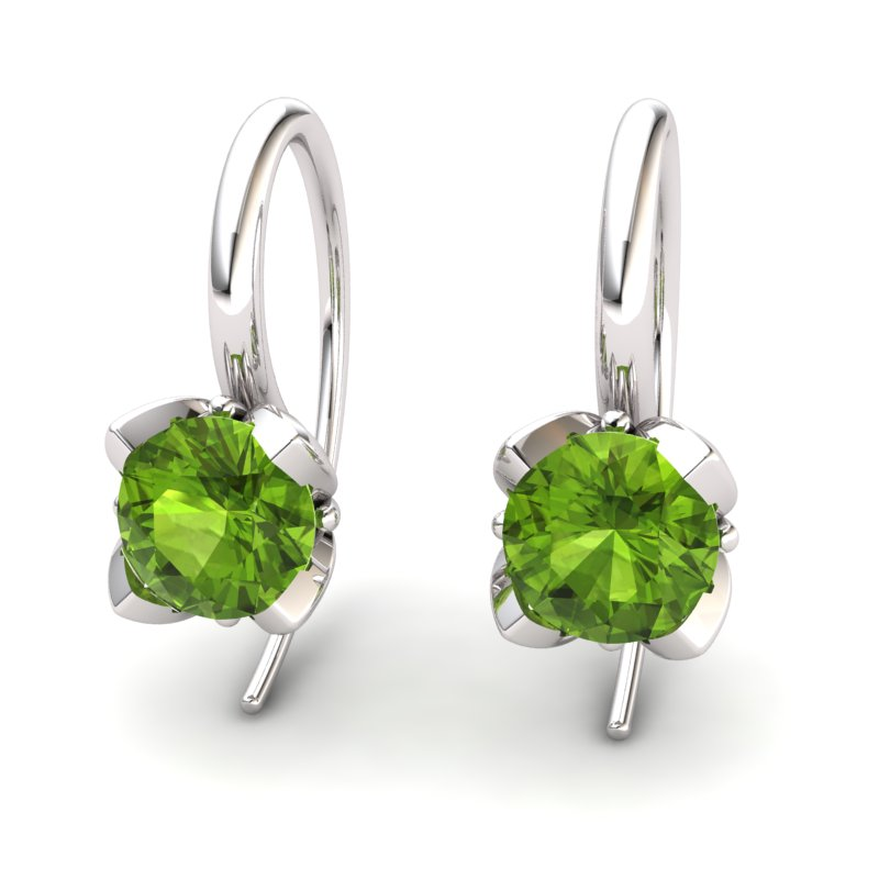 Lotus Hook Earring Peridot_image1)