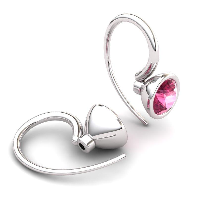 Classic Garnet Hook Earring _image2)