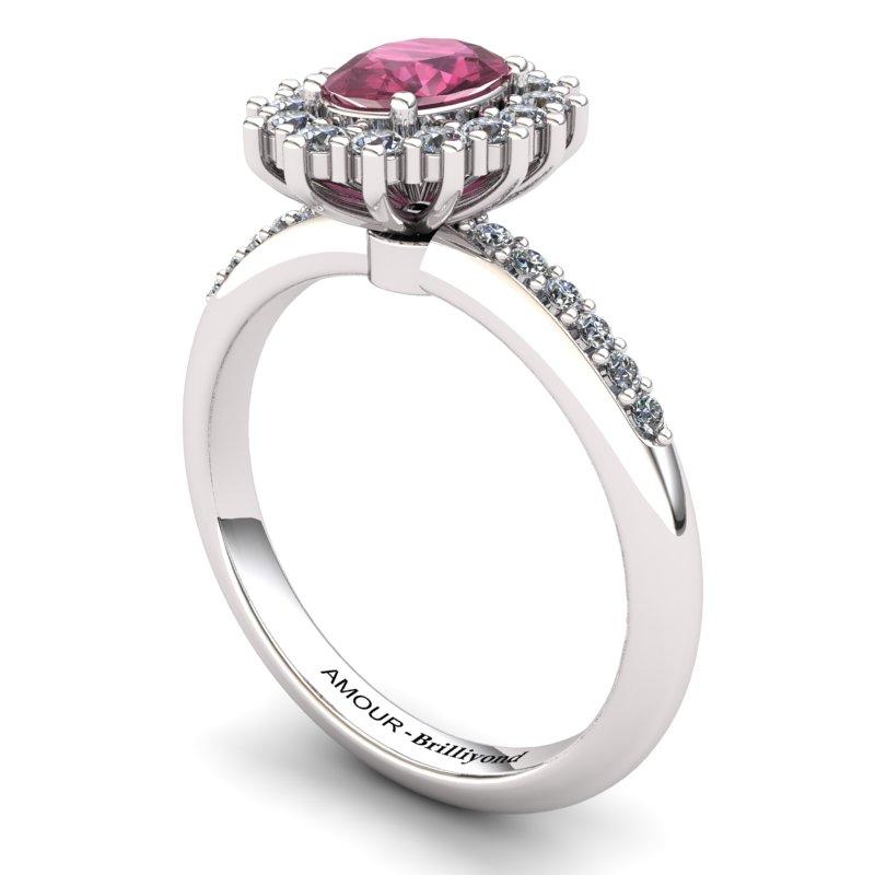 Garnet Princess Ring with Stone Band_image1)