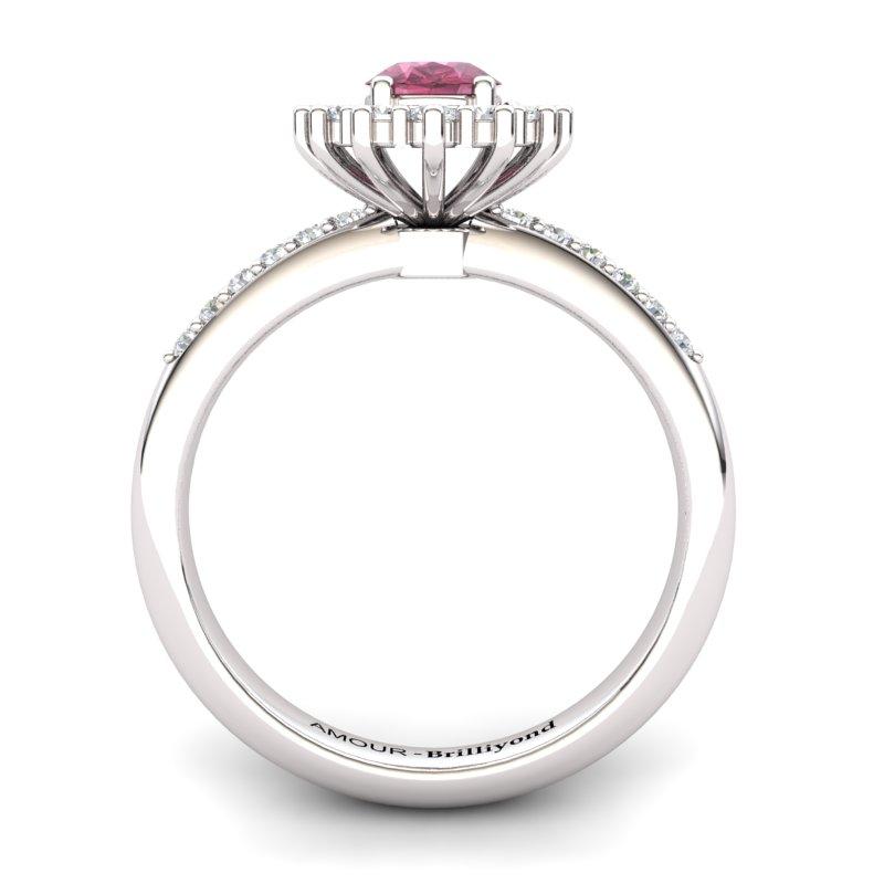 Garnet Princess Ring with Stone Band_image2)