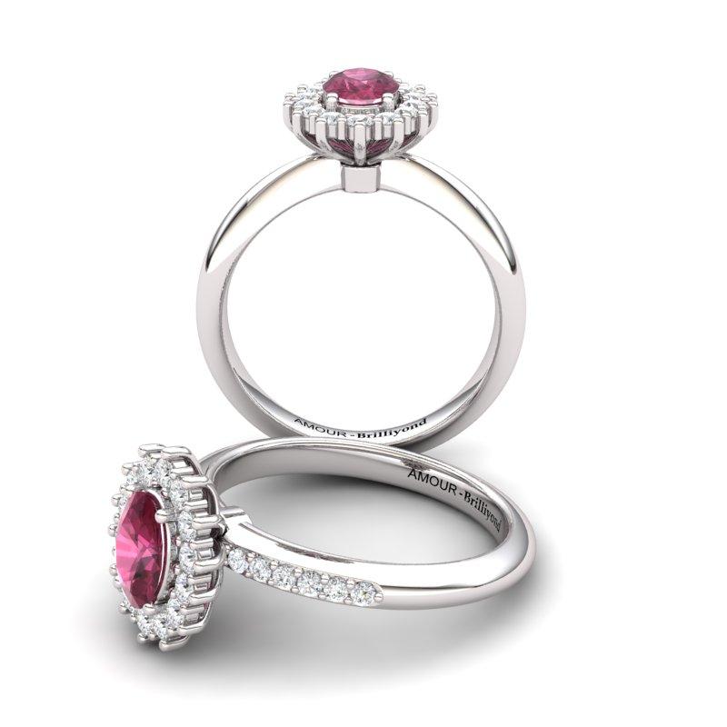 Garnet Princess Ring with Stone Band_image3)