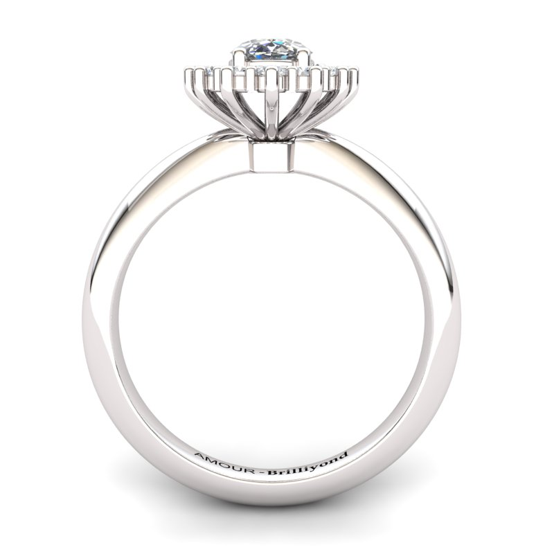 White Zircon Princess Ring _image2)