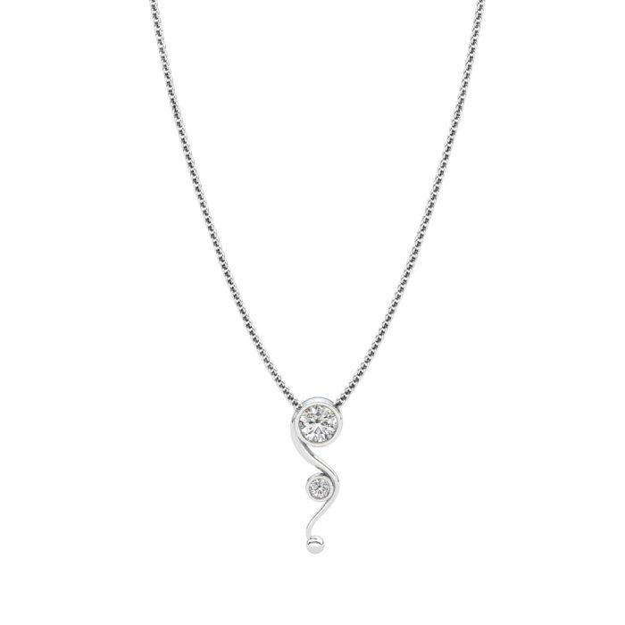 Seahorse Inspired Pendant - White Zircon _image1)