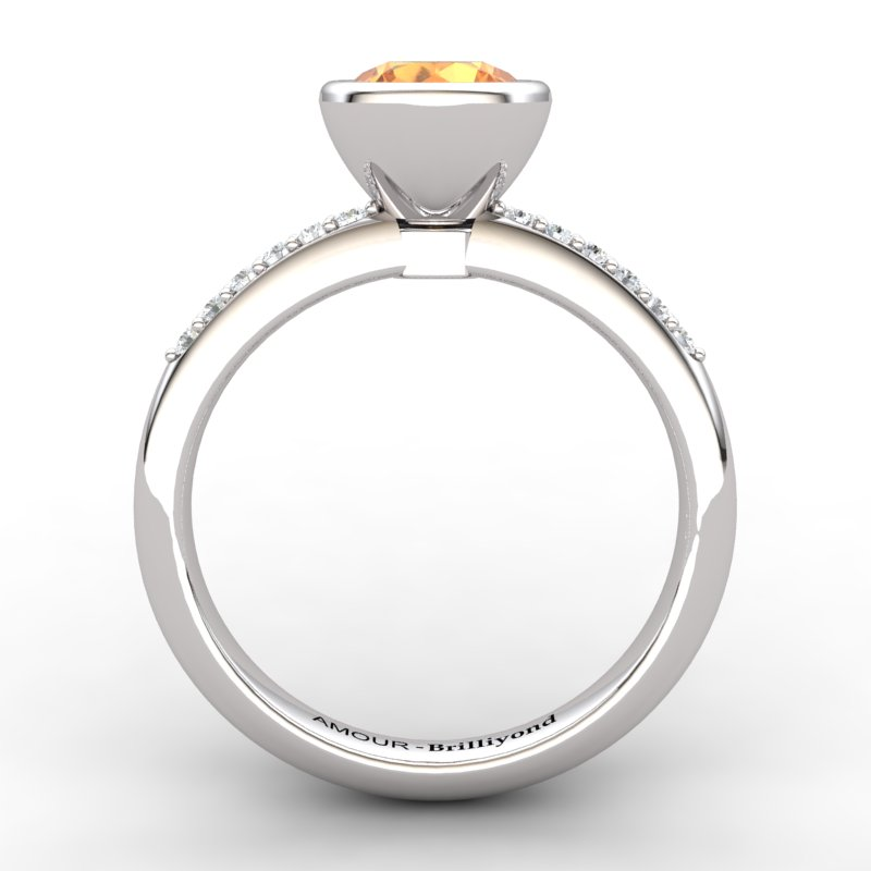 Classic Citrine Ring with Stone Band_image2)