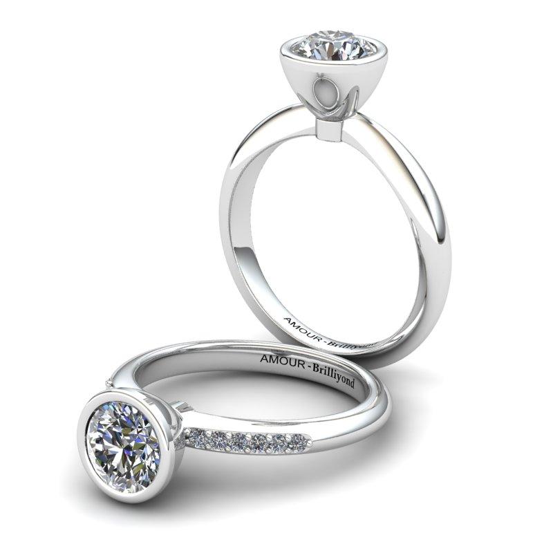 Classic White Zircon Ring _image3)