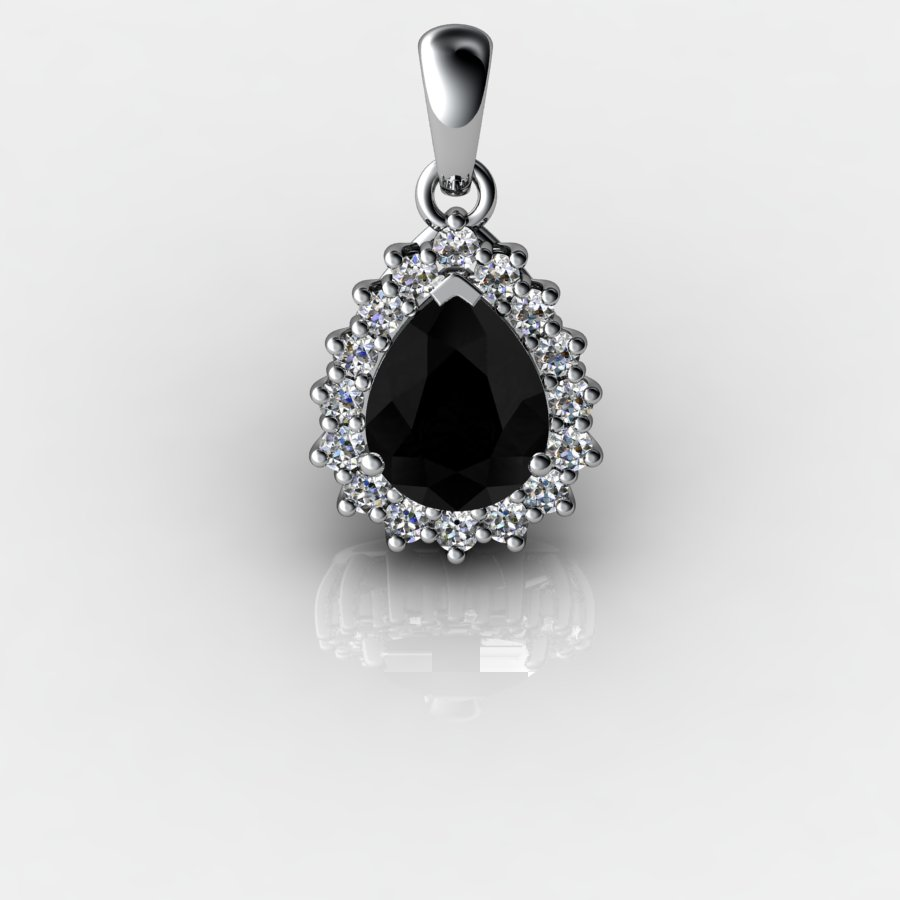 Cluster Drop Pendant - Black Onyx_image1)