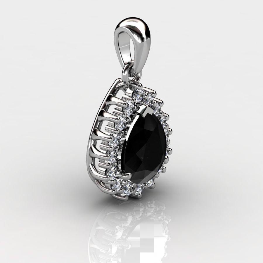 Cluster Drop Pendant - Black Onyx_image2)