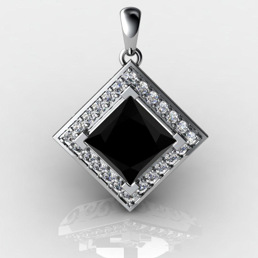 Cubic Vintage Pendant - Black Onyx_image1)