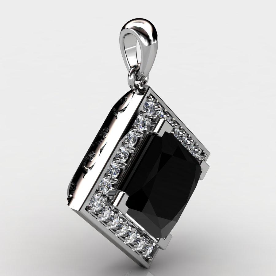 Cubic Vintage Pendant - Black Onyx_image2)