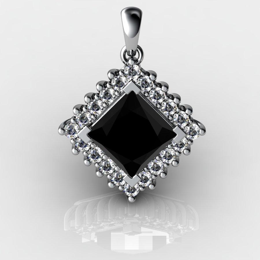 Cubic Cluster Pendant - Black Onyx_image1)