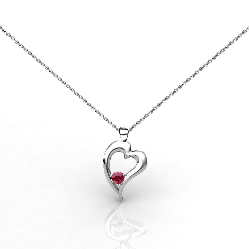 Heart Pendant - Garnet_image1)