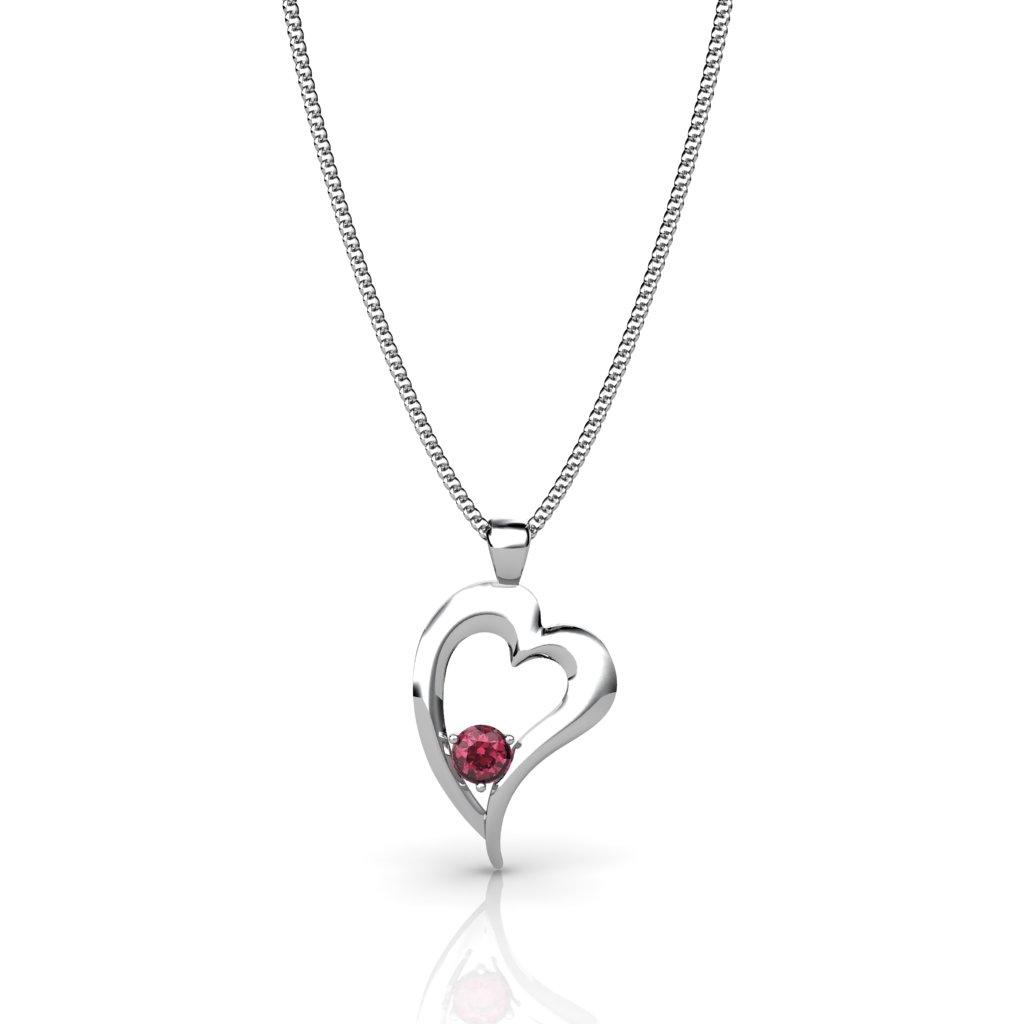Heart Pendant - Garnet_image2)