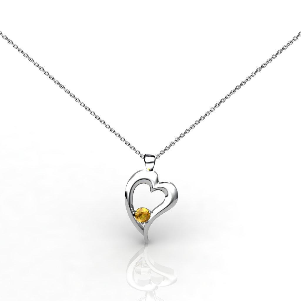 Heart Pendant - Citrine_image1)
