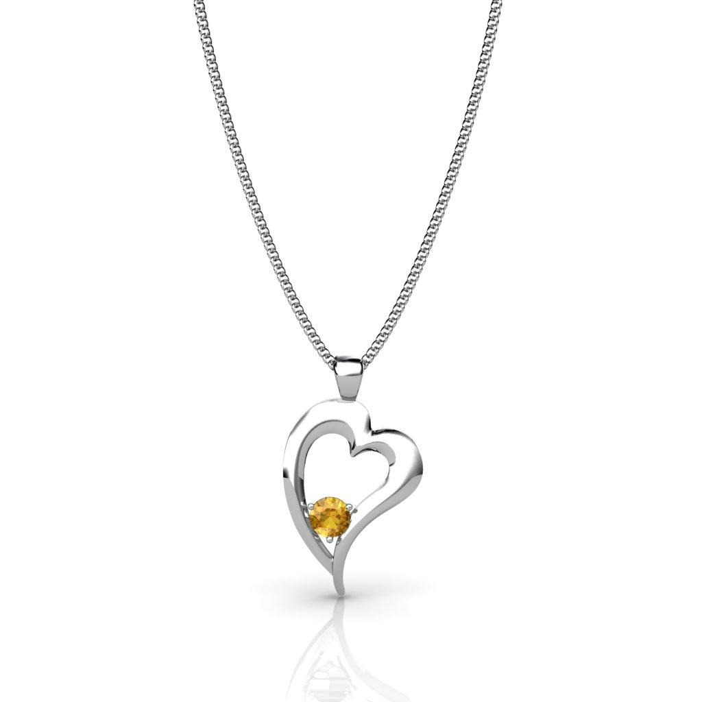 Heart Pendant - Citrine_image2)